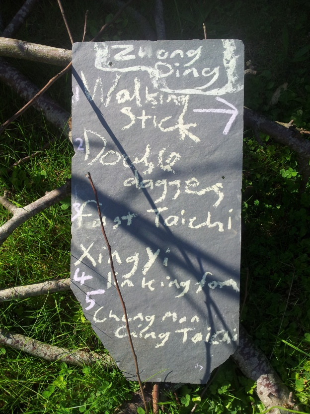 A picture of slate with flavours of tai chi written on it