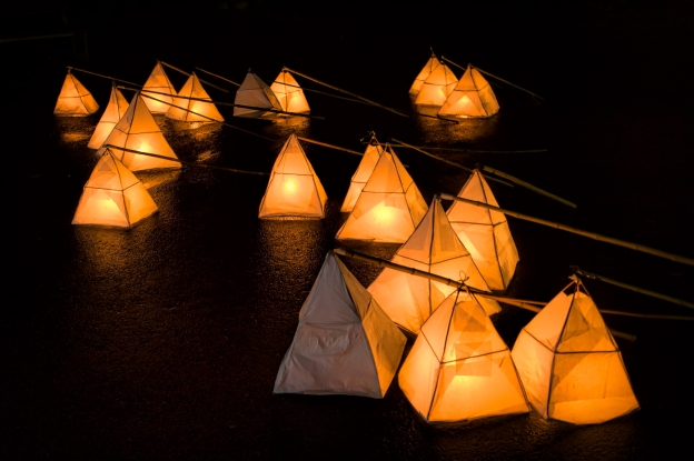 A picture of some lanterns