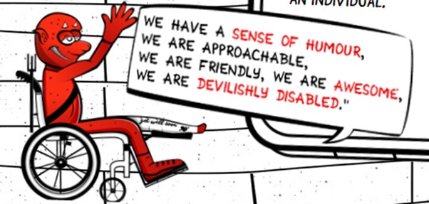 Picture of Matt's DevilishlyDisabled branding
