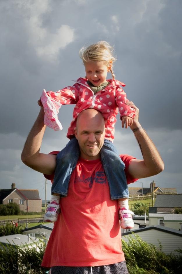 Karateka Chris and daughter Marcie.  Chris now trains at Doryoku Rye Karate Jutsu in Plymouth.